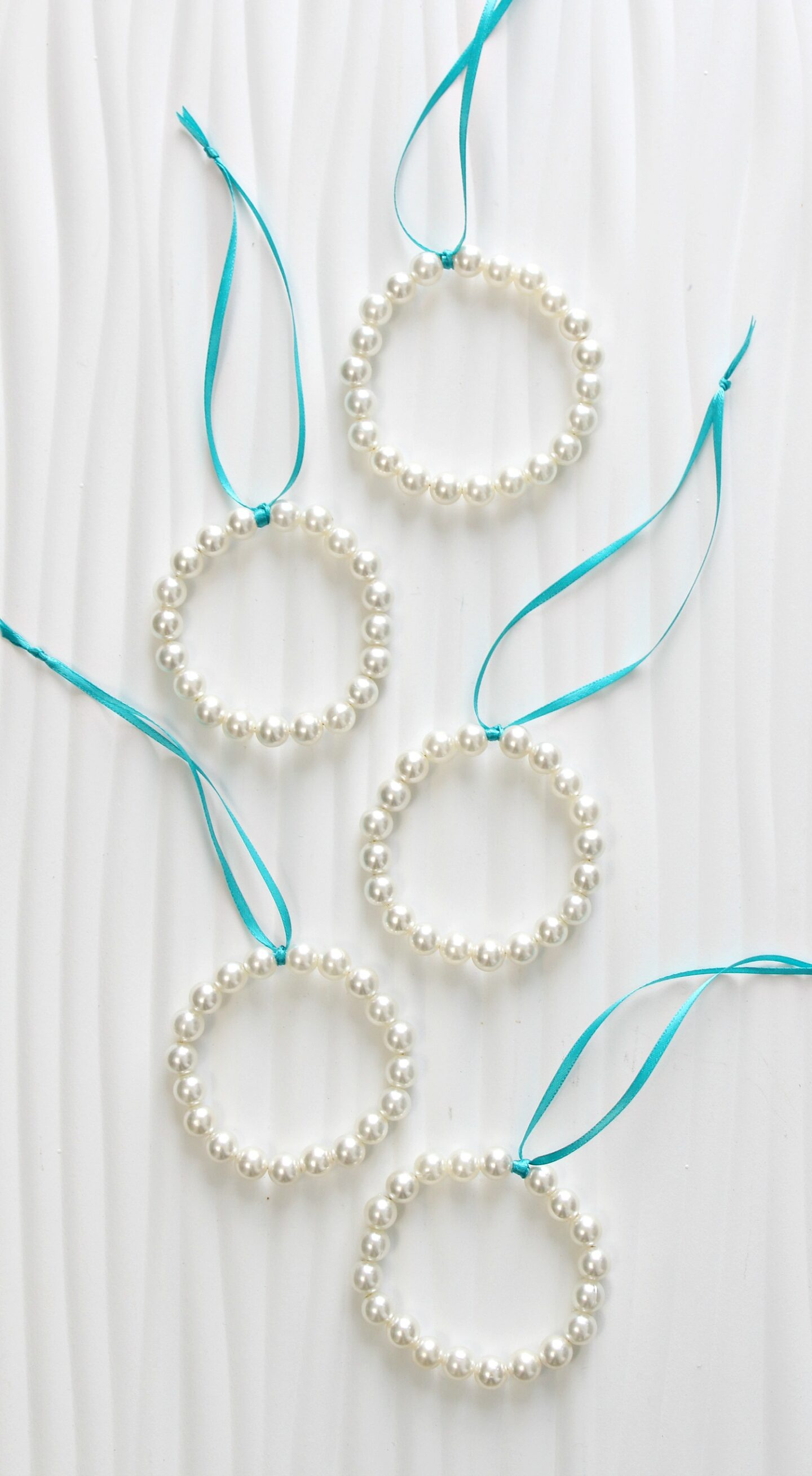 DIY Pearl Christmas Ornaments