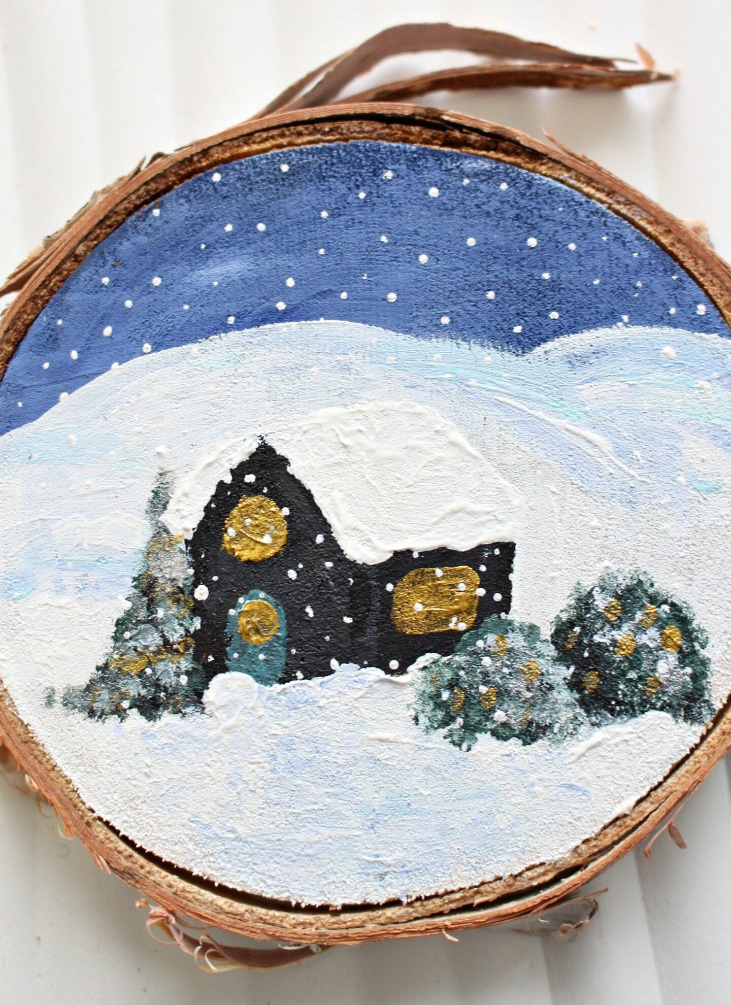 Décoration d'arbre de Noël inspirée de la cabine