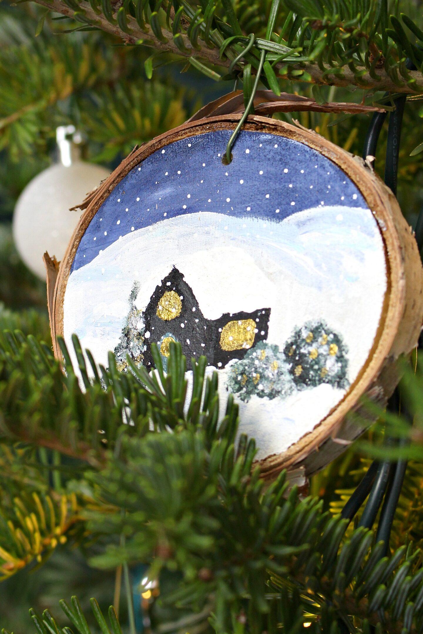 Ornement d'arbre de Noël bricolage pour la maison