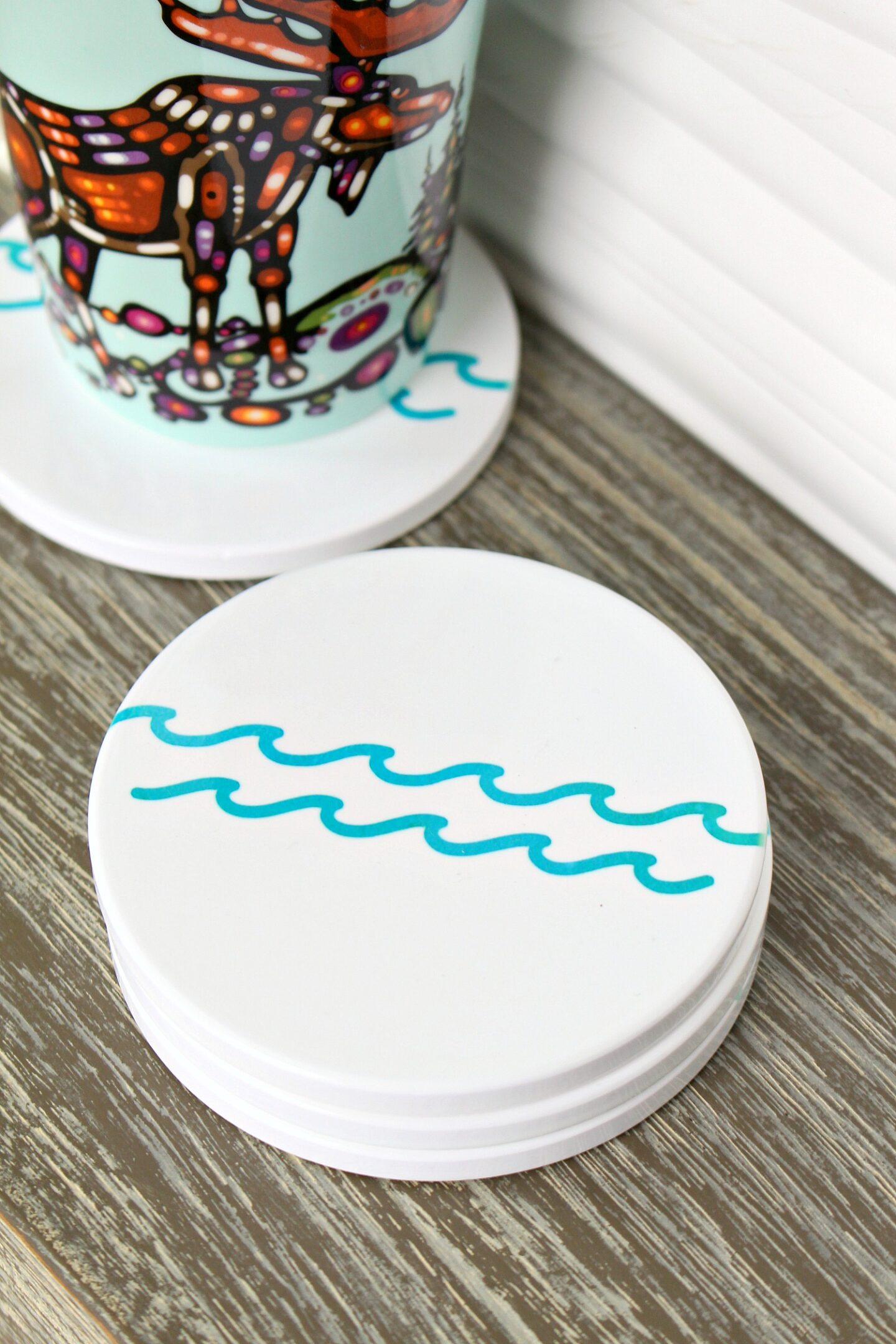 DIY Lake Themed Coasters
