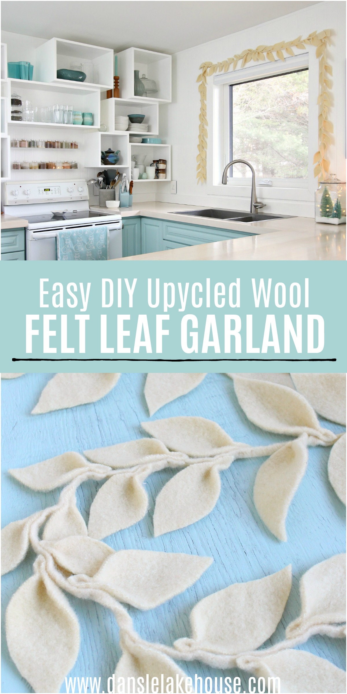 Upcycled Wool DIY Felt Leaf Garland