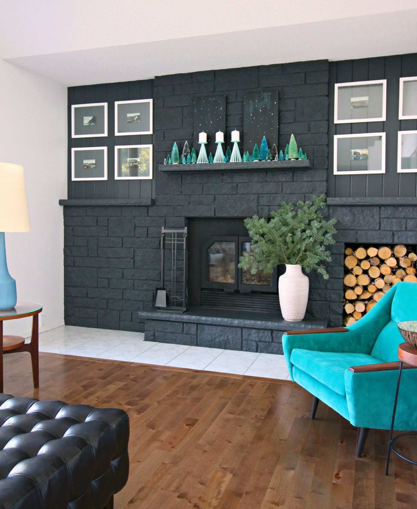 How to Style a Narrow Mantel for Christmas