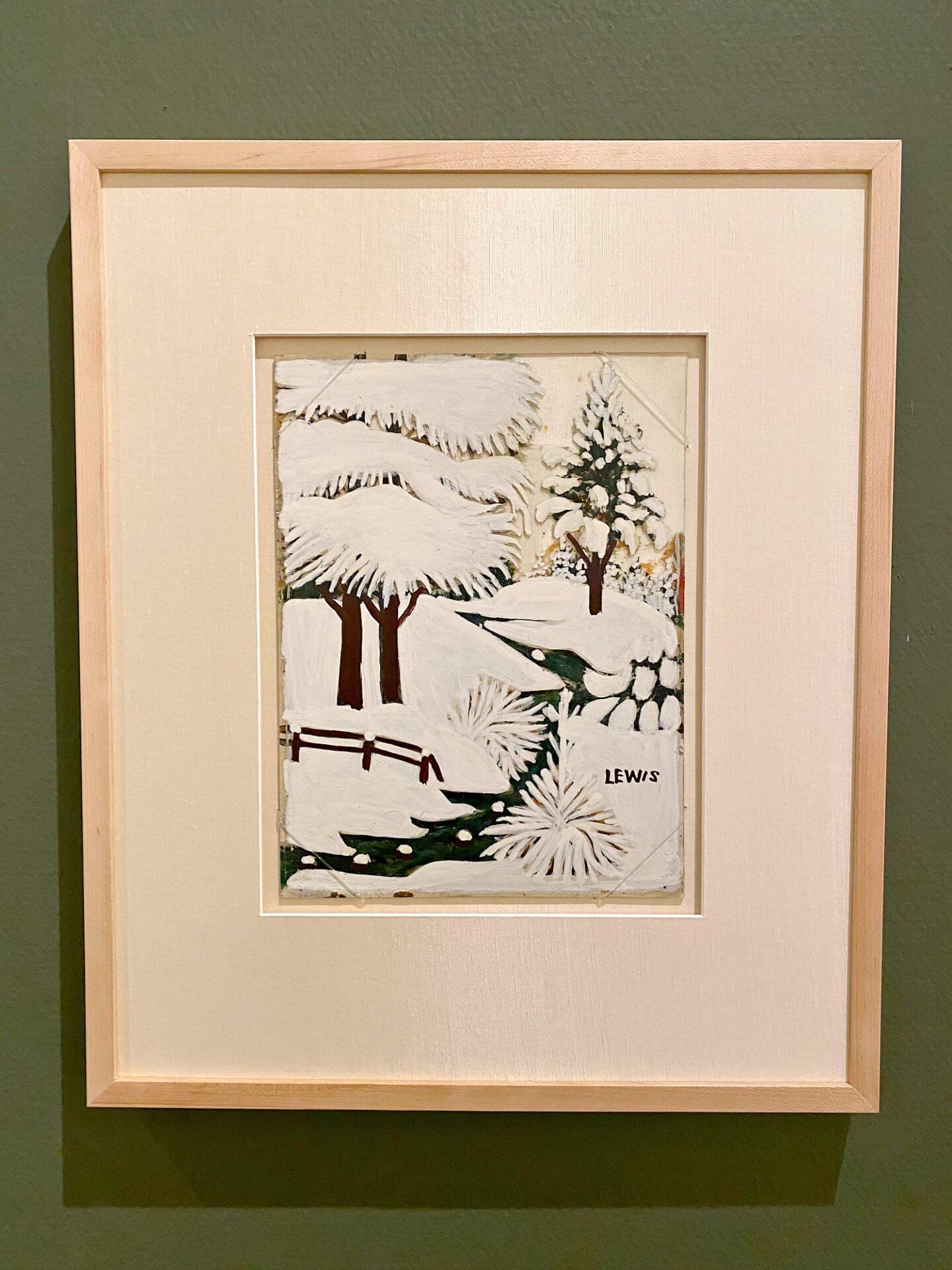 Maud Lewis peinture sur verre