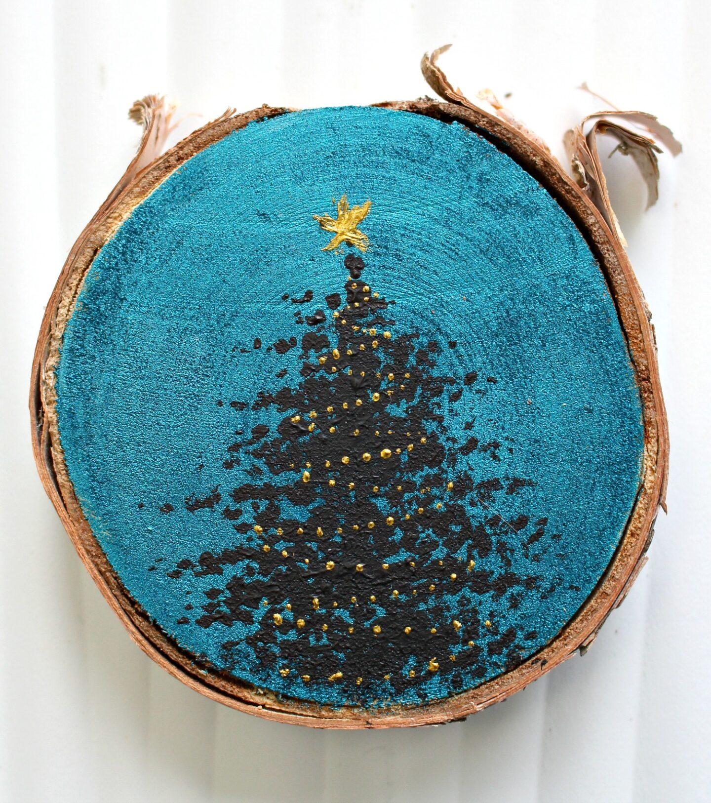 Ornement d'arbre de Noël peint à la main