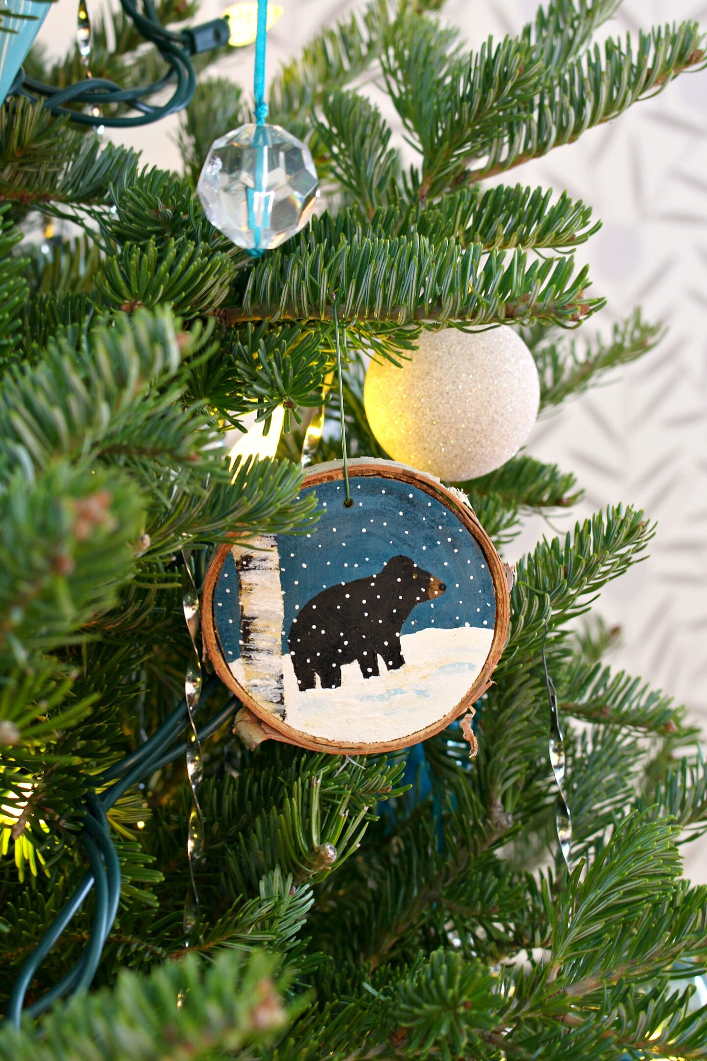 Ornement de Noël ours noir