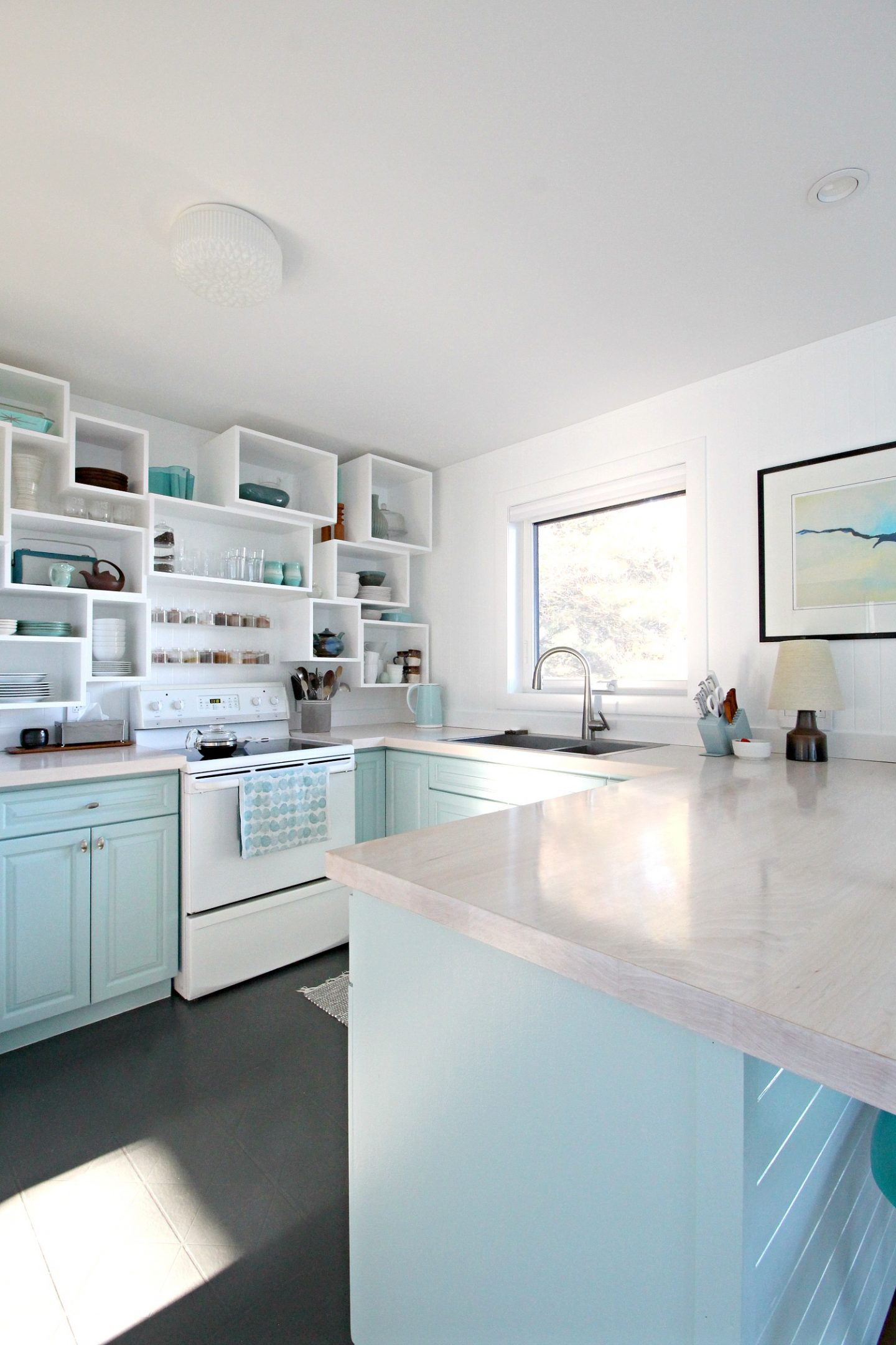 Sherwin Williams Watery on Kitchen Cabinets