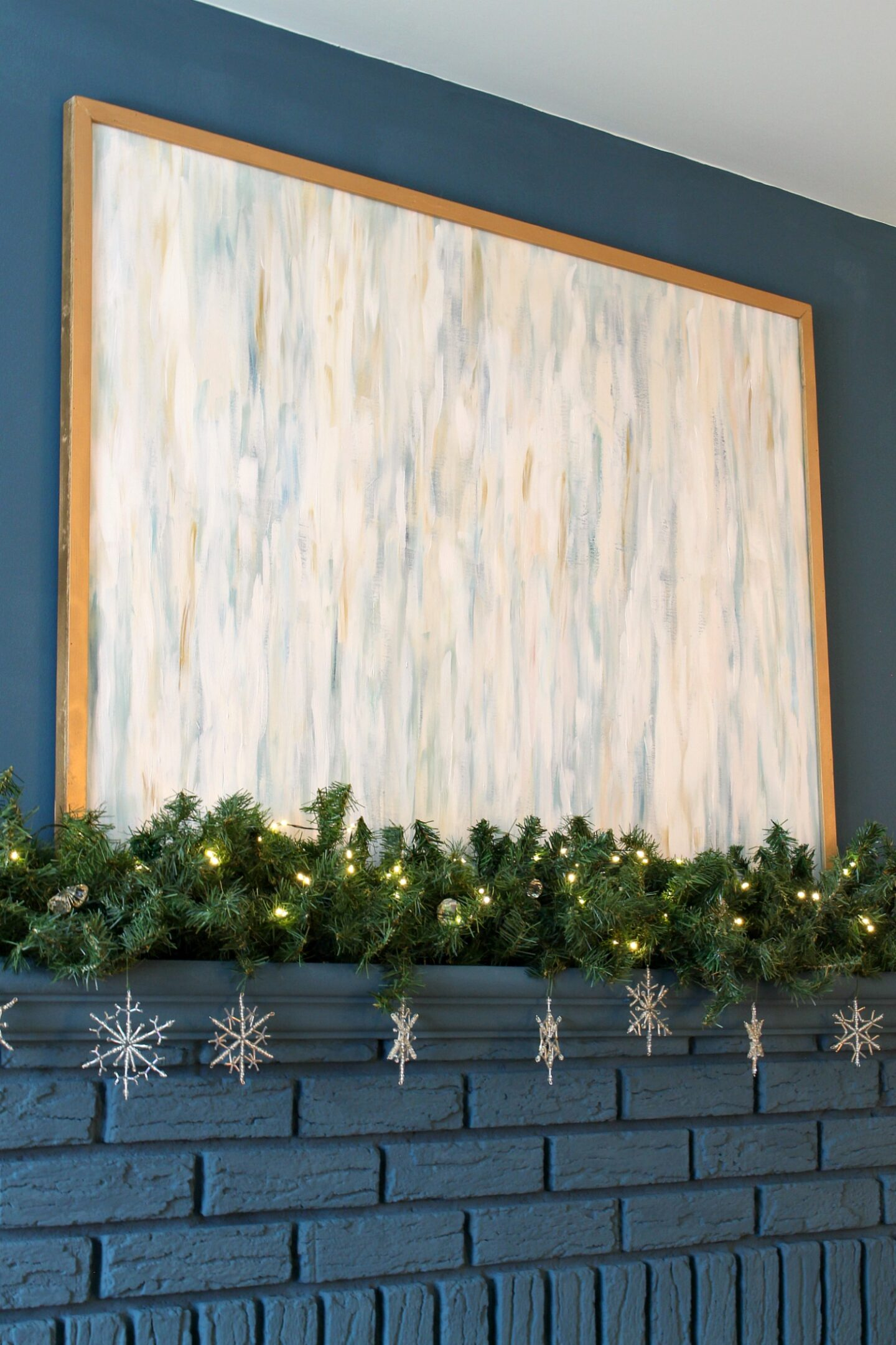 Wintry Mantel Decor Not Christmas
