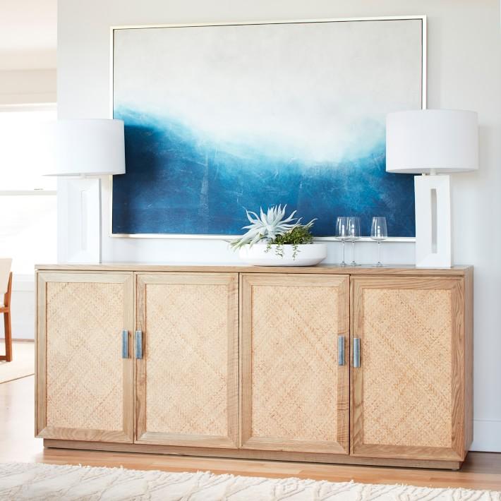 Illustration bleu indigo sur la plage