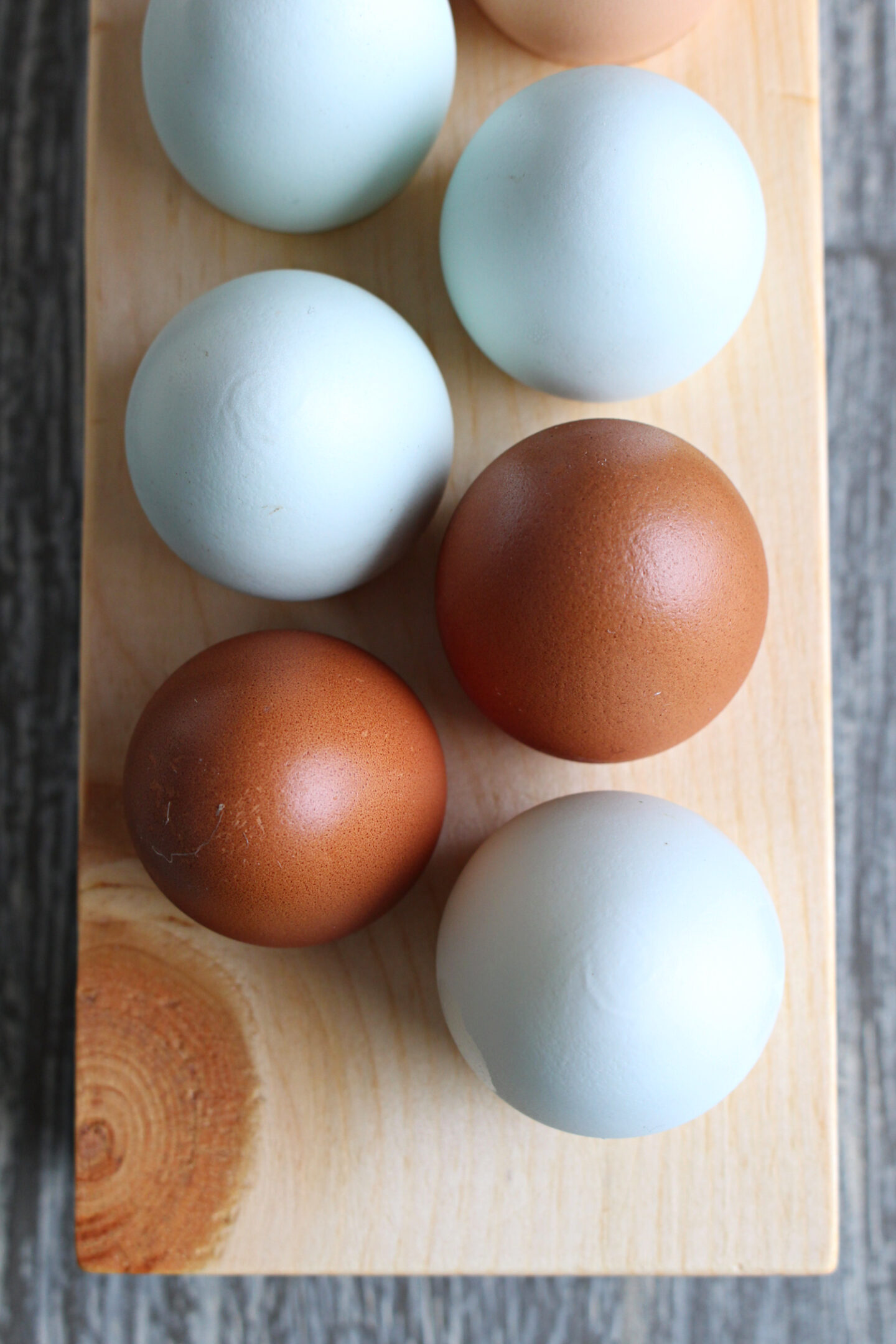 wood egg tray