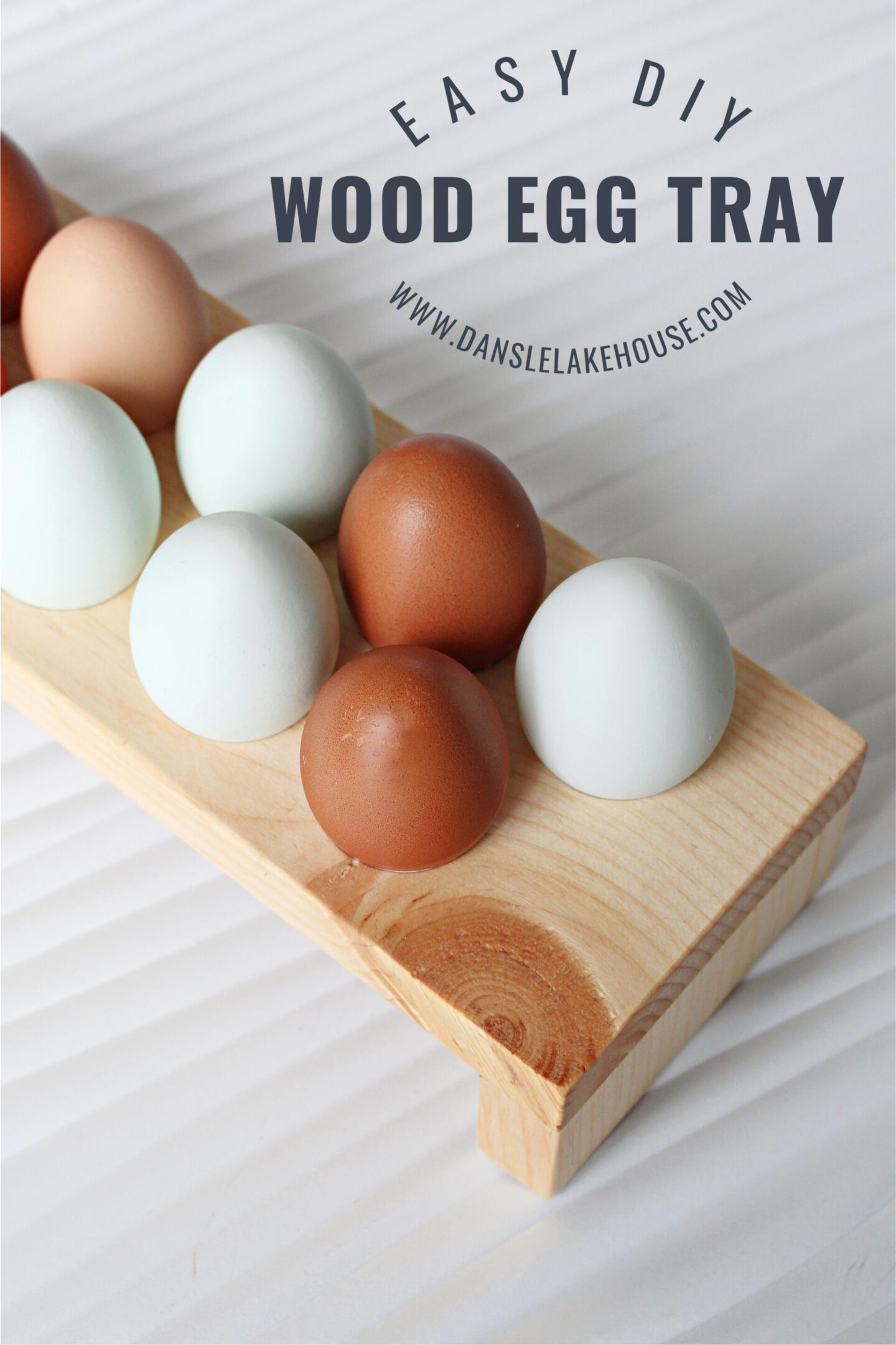 DIY wooden egg holder