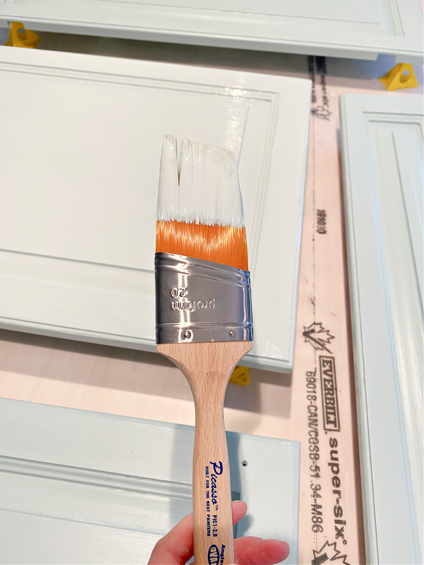 The Best Brush for Painting Cabintry