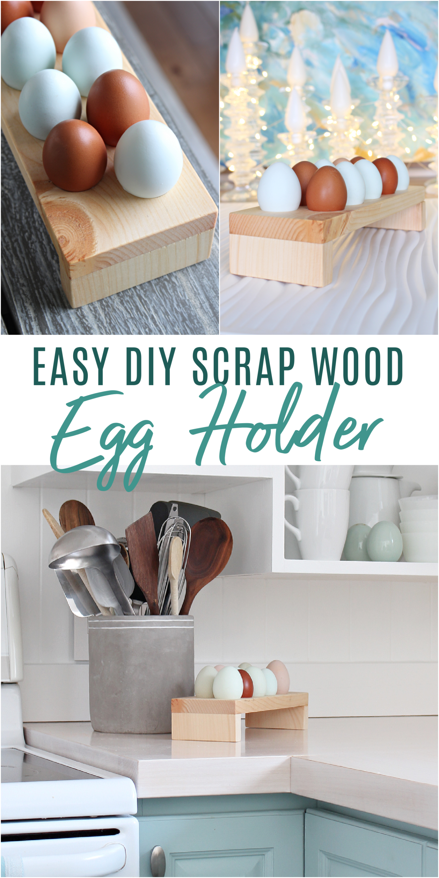 Easy DIY Scrap Wood Egg Holder
